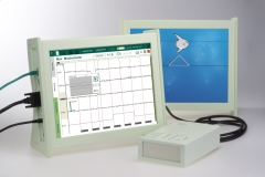 Neurofeedback device with monitor for patient and therapist